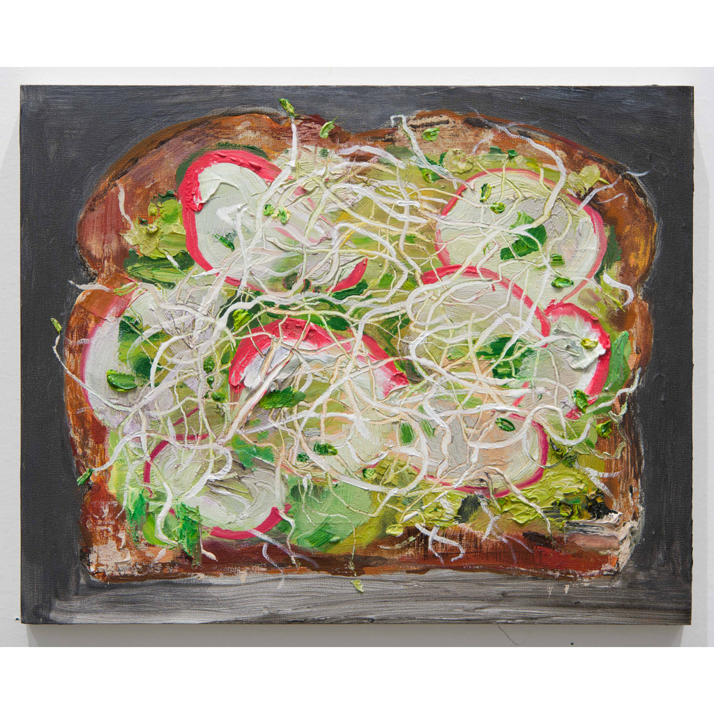 Avocado Toast with Sprouts and Radish