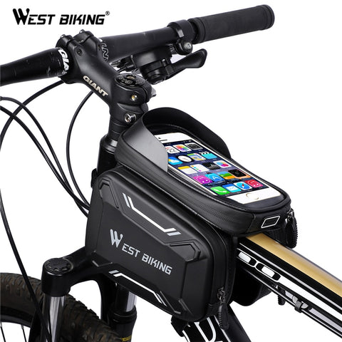 West Biking Bicycle handlebar bag waterproof