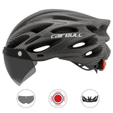 Ultralight Bicycle Helmet with Visor and integrated LED tail light - JagNadu