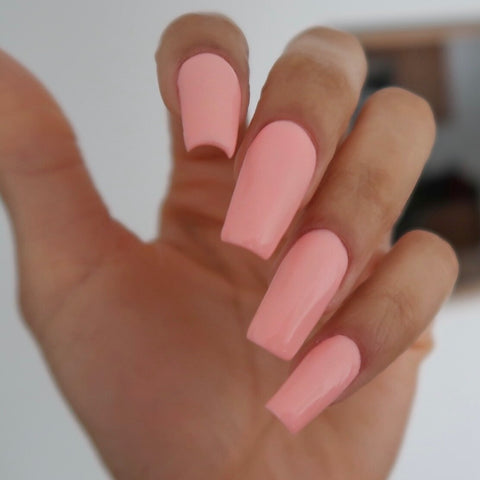 Peach Dip Powder Manicure | How to Apply Tips |  Revel Nail
