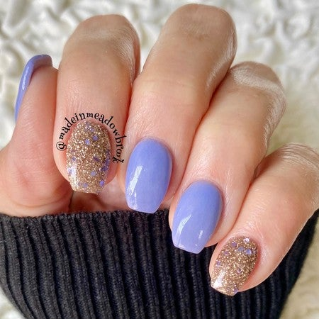Shimmer Blue Dip Powder | New Year Manicure Inspo | Revel Nail | At Home Dip Powder Kit