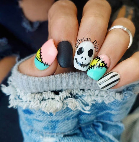 Nightmare Before Halloween Manicure | Halloween Manicure Ideas | Dip Powder At home kit | Revel Nail