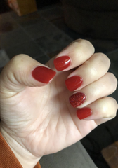 Photo of D58 Monica manicure, Red Dip Powder Revel Nail