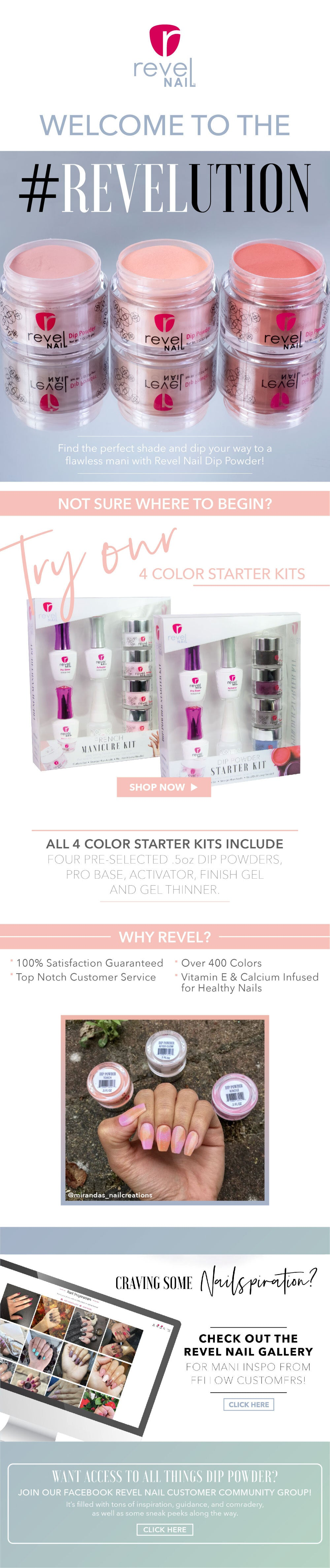 Starter Kit Landing Page | Revel Nail Dip Powder