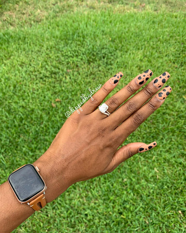 Nude and Black Matte Nails | Revel Nail Dip Powder