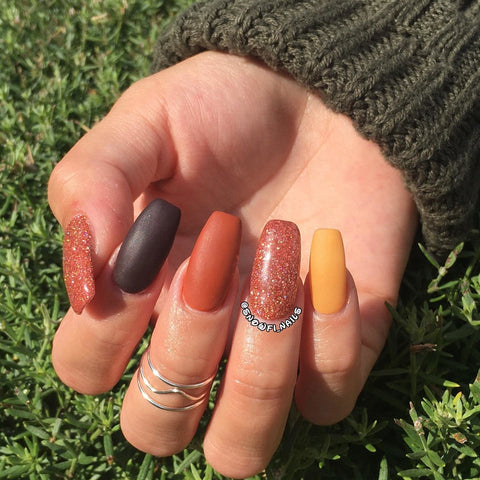 Fall Matte Manicure | Revel Nail Dip Powder