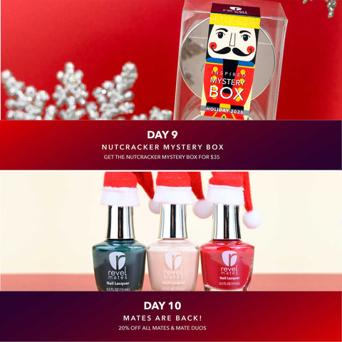 Nutcracker Mystery Box Day and Revel Mates | Holiday Manicures