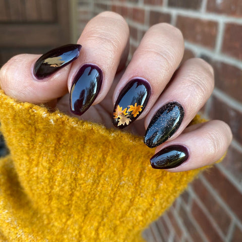 Dark Fall Manicure | Dark Purple Dip Powder | Vamp Revel Nail Dip Powder