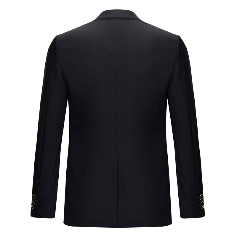 Single-Breasted Wool Blazer Jacket