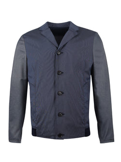contrast panel shirt jacket