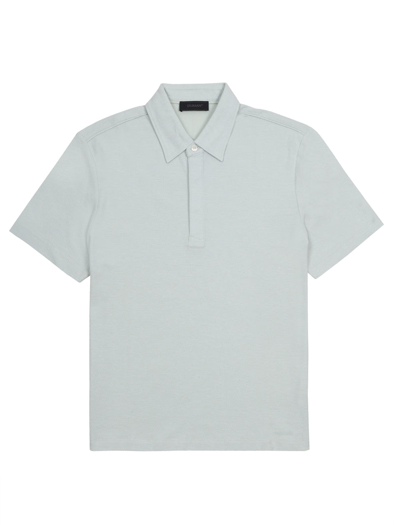 plain short-sleeved polo shirt