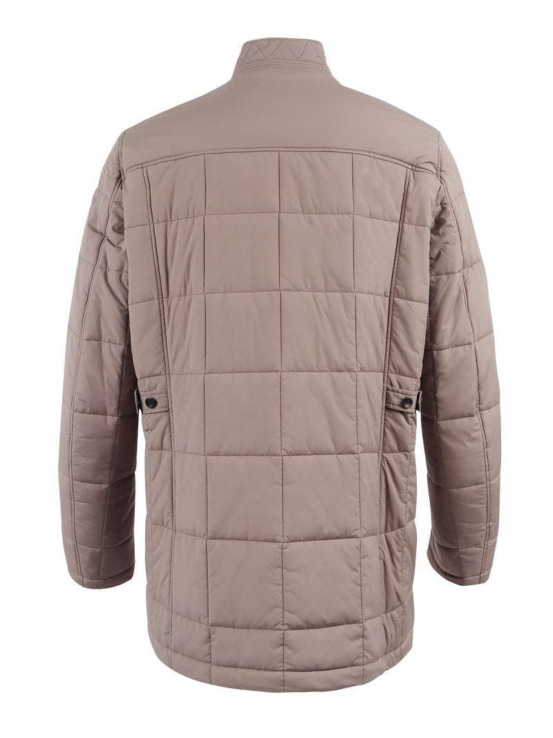 single-breasted padded jacket
