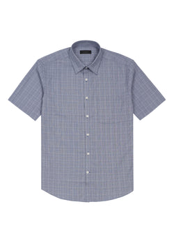 check print short-sleeved shirt