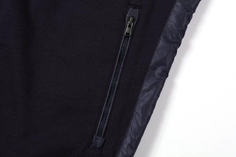 Contrast Side Panels Bomber Jacket