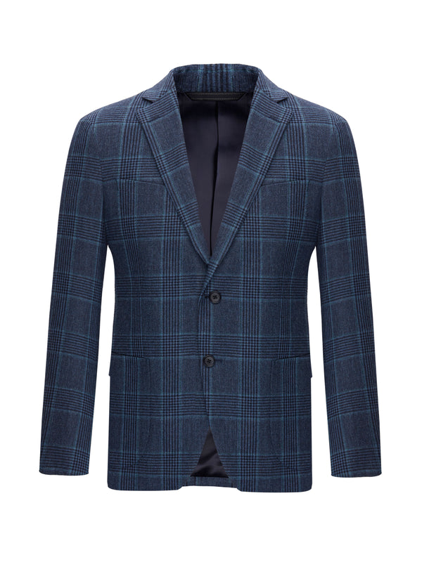 Single Breasted Wool Blazer Jacket