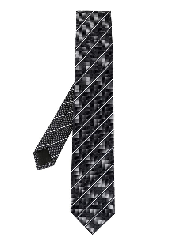 Striped dotted tie