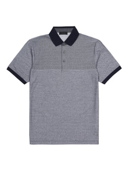 contrasting collar polo shirt