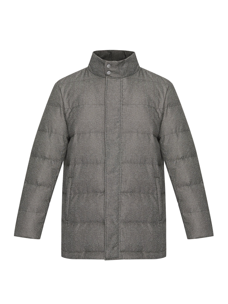 Padded Collarless Down Jacket