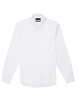 patch-pocket long sleeved poplin shirt