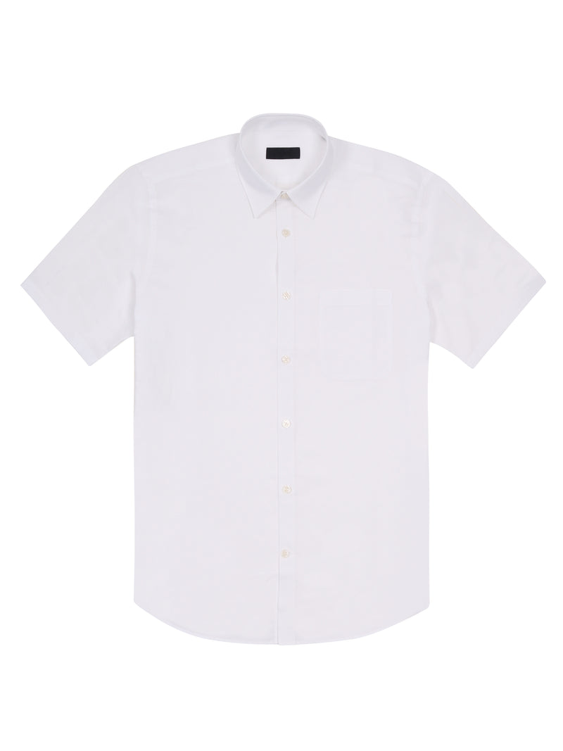 button up short-sleeved shirt