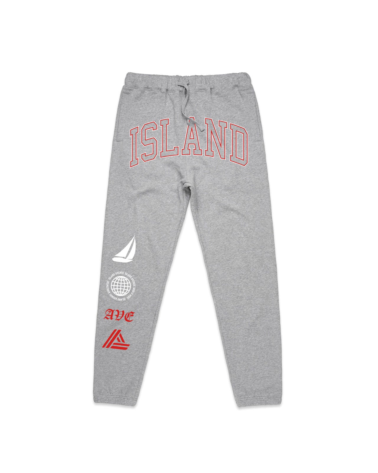 Global Joggers (Heather Grey/Red)