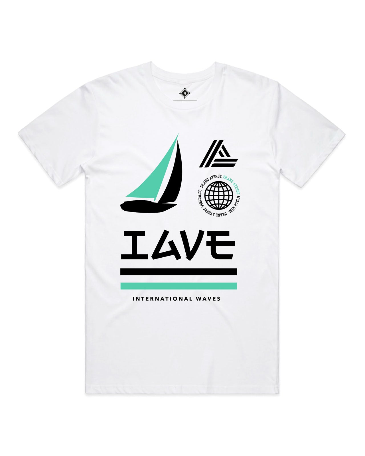 INT'L WAVES Tees (WHITE)