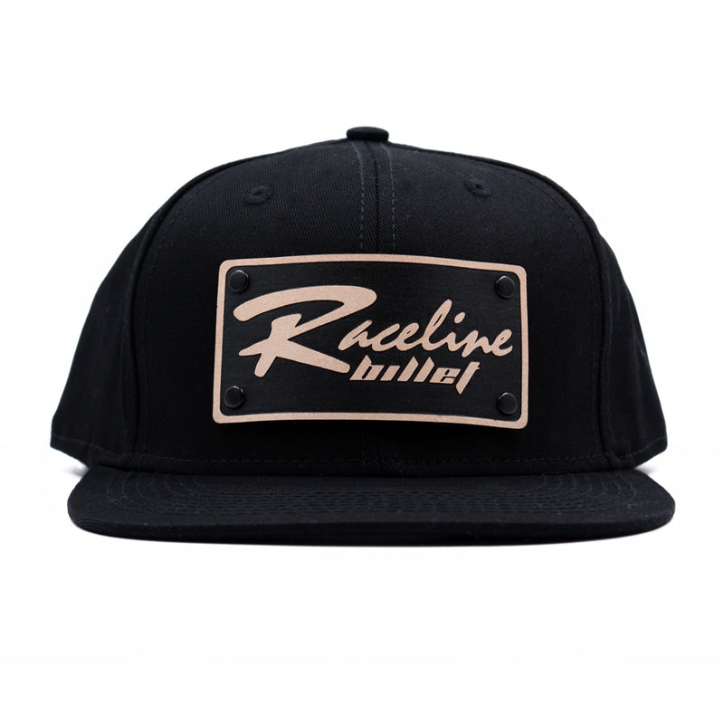 Raceline Billet Leather Snapback Hat