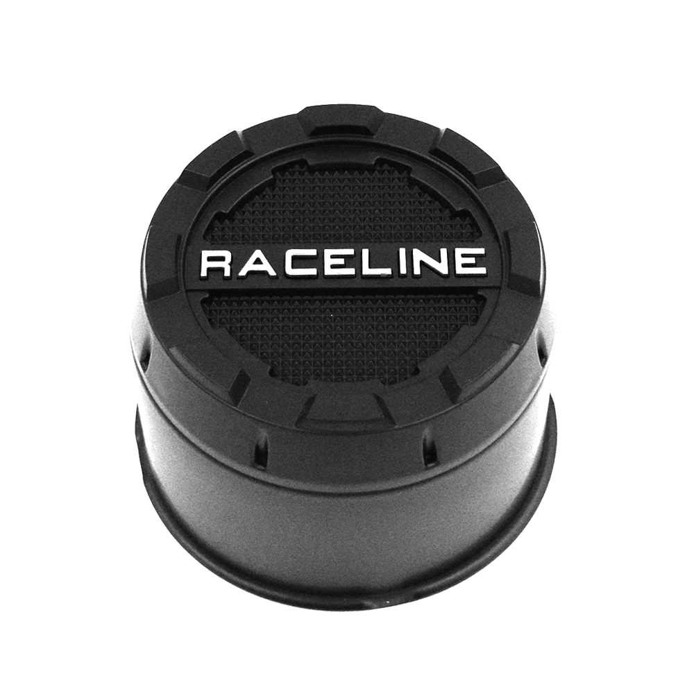 CPR-B-4420 RACELINE WHEELS 2PC PUSH THROUGH BLACK CAP 4.420 BORE