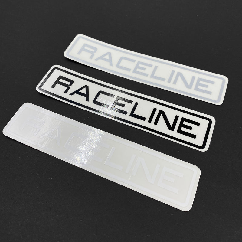 "6"" Mylar Decal 3 Pack - White/Black/Silver"
