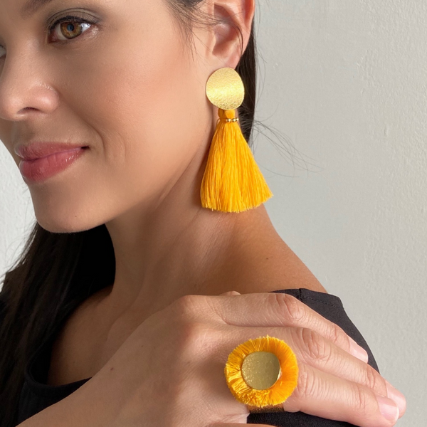 Sunshine Set: Earrings+Ring