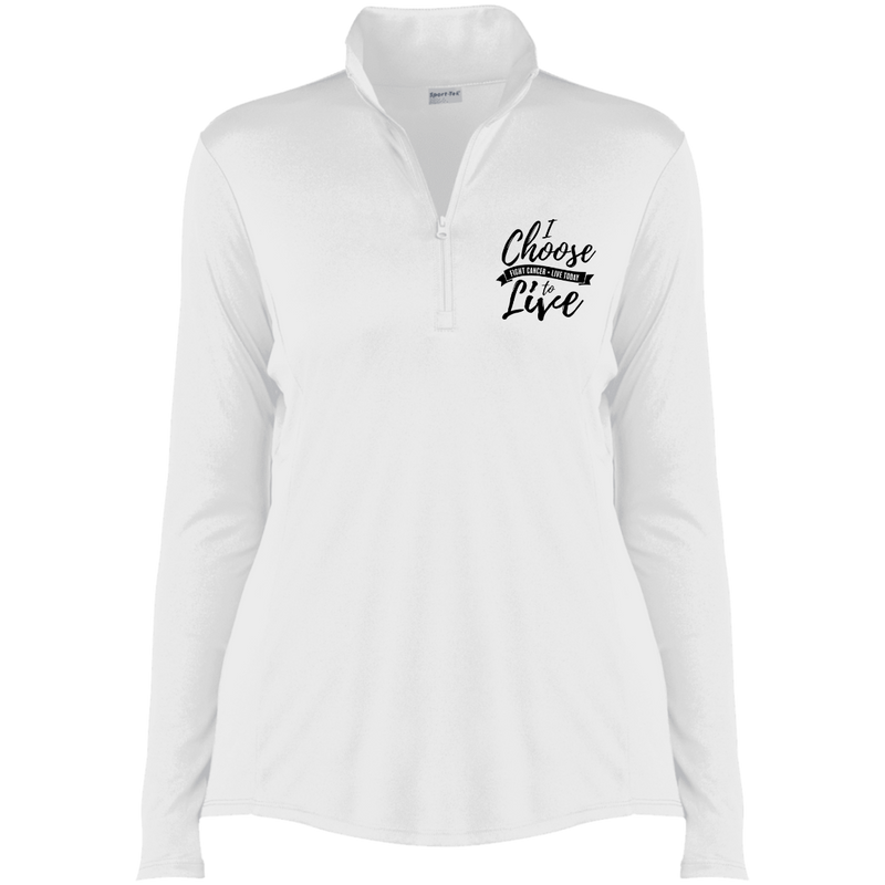 Ladies I Choose To Live Embroidered 1/4-Zip Pullover Winter 2021