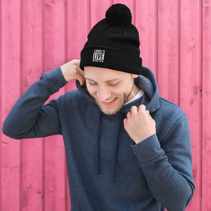 Pom-Pom Beanie Wear Proudly For Someone You Know Fighting Cancer In 2021