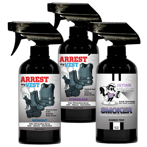 Buy 2 Get 1 FREE Smoke Odor Eliminating 16 oz Spray (Bamboo Teak) - One 16 oz Midnight and One 16 oz Stressless