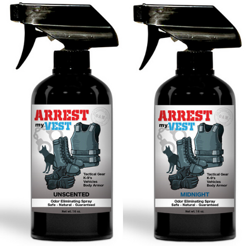 Arrest My Vest 16 oz. Midnight & Unscented Odor Eliminating Spray Bundle
