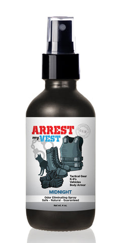 Arrest My Vest 4 oz Midnight Odor Eliminating Spray