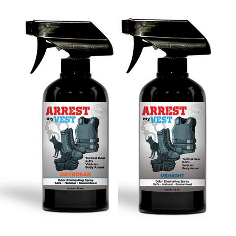 Arrest My Vest 16 oz. Daybreak & Midnight Odor Eliminating Spray Bundle