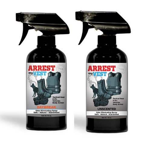 Arrest My Vest 16 oz. Daybreak & Unscented Odor Eliminating Spray Bundle