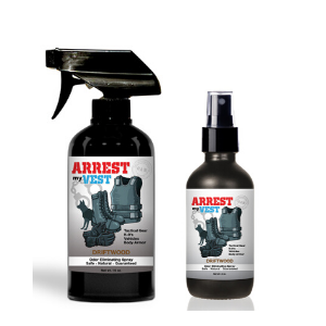 Arrest My Vest Driftwood 16 oz and 4 oz Odor Eliminating Spray Bundle