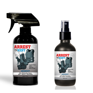 Arrest My Vest Midnight 16 oz and 4 oz Odor Eliminating Spray Bundle
