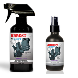 Arrest My Vest Stressless 16 oz and 4 oz Odor Eliminating Spray Bundle