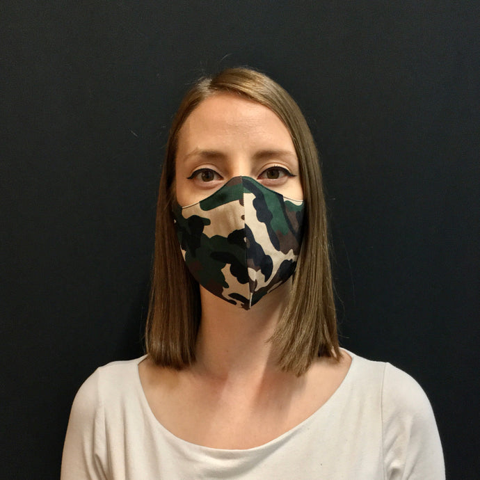 Maske im Camouflage Look | Couture Shop