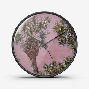 Palm Trees in Hawaii Wall Clock by Concinnity Crafts