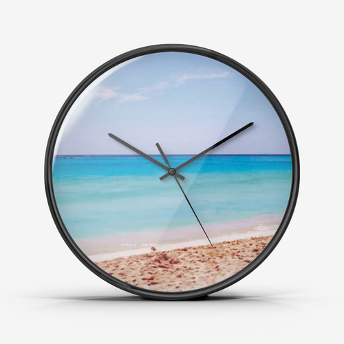A Beach in Mexico Wall Clock Silent Non Ticking Quality Quartz by JW on Concinnity Crafts
