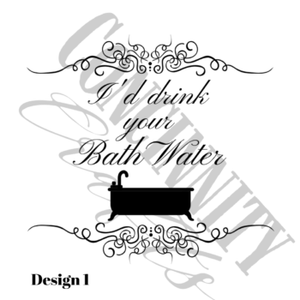 I'd Drink Your Bath Water Wood Bathroom Towel Rack,concinnity-crafts,Wall Decor,Concinnity Crafts