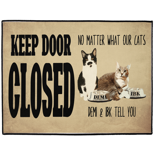 Personalized Indoor/Outdoor Floor Mat 18x24