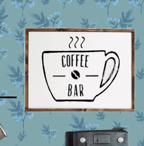 Coffee Bar Wood Framed Sign,concinnity-crafts,Wall Decor,Concinnity Crafts