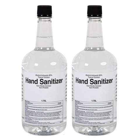 Sazerac Company Liquid Hand Sanitizer 1.75L (59 oz) - 2 Bottles w/ 1 Pump