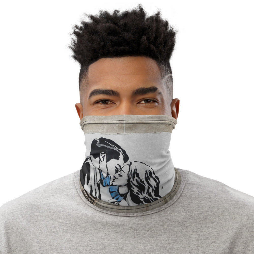 Graffiti Print Neck Gaiter
