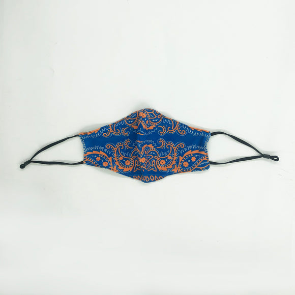 Madison Ave. Blue Cloth Mask