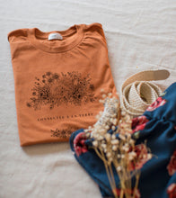 """Upload image to gallery, Oversized """"Connected to Earth"""" rust T-shirt"""